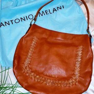 ANTONIO MELANI   Large Braided Leather Tote
